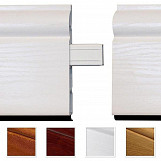 1 x White Satin Roomline Inline Joint Moulding PVC Skirting Board