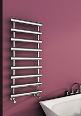 Carisa Aldo Chrome Designer Heated Towel Rail 800mm x 500mm Central Heating