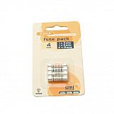 SMJ FUMXAC Pack Of 4 Mixed Fuses (1x3a/1x5a/2x13a)