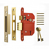 ERA 362-62 Fortress British Standard Mortice Sashlock 5 Lever 76mm Chrome Plated