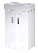Eastgate Floor Standing Basin & Cabinet 820mm H x 450mm W - High Gloss White