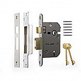 ERA 302-62 Viscount Mortice Sashlock 5 Lever 76mm Chrome Plated