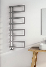 Carisa Arlen Brushed Stainless Steel Designer Heated Towel Rail 1000mm x 500mm Central Heating