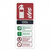 Fixman 319626 CO2 EN3 Fire Extinguisher Sign 202 X 82mm Self-Adhesive