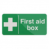Fixman 349616 First Aid Box Sign 200 X 100mm Self-Adhesive