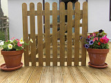 3ft x 3ft TREATED WOODEN PICKET GARDEN GATE WOOD HIGH QUALITY HANDMADE