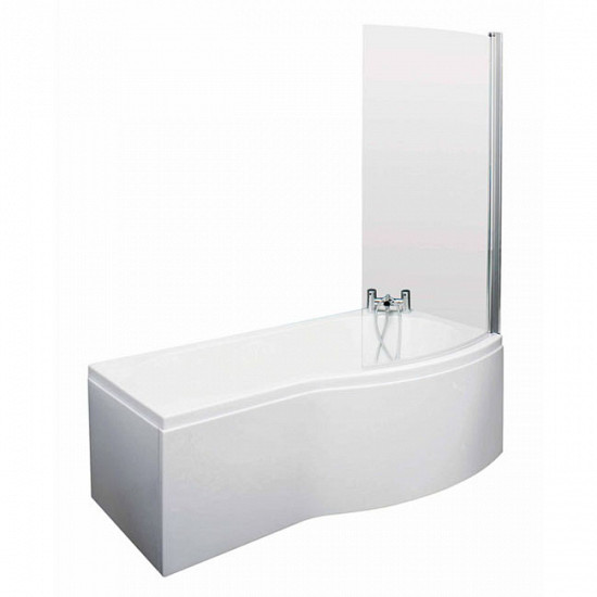 Eastgate Right Hand White Acrylic Bath - 1500mm with Side Panel & Screen