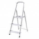 Abru 13013 Aluminium Step Ladder 3 Tread BS2037 Class 3 95KG Max Load