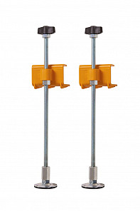 Tiletracker Legs with Clamps, Rotating Feet and Wingknobs
