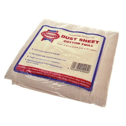 Faithfull FAIDSCT129 Cotton Twill Dust Sheet 12 X 9ft