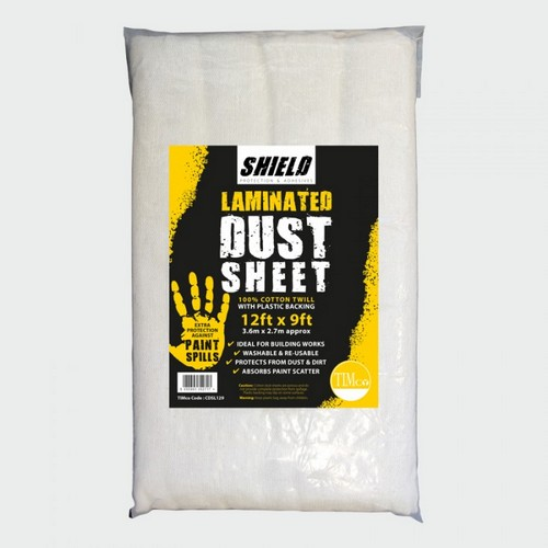 TIMco CDSL129 Shield Dust Sheet Laminated 12ft X 9ft
