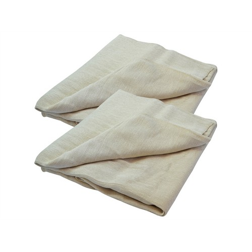 Faithfull FAIDSCT129TP Cotton Twill Dust Sheet Twinpack 3.5 X 2.6m